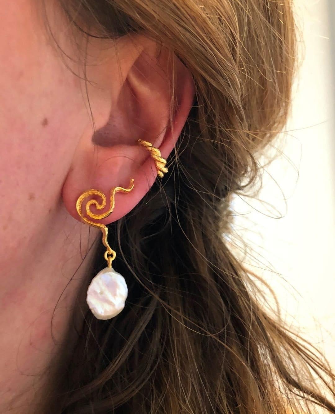 Aura earrings från Maanesten i Förgyllt-Silver Sterling 925