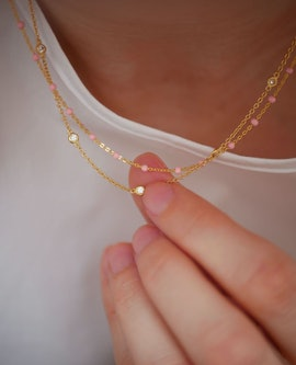 Lola necklace Light Pink