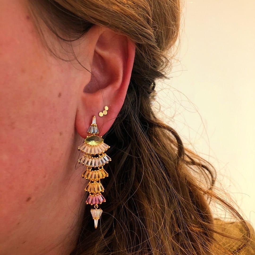 Berlin earsticks von Pernille Corydon in Vergoldet-Silber Sterling 925