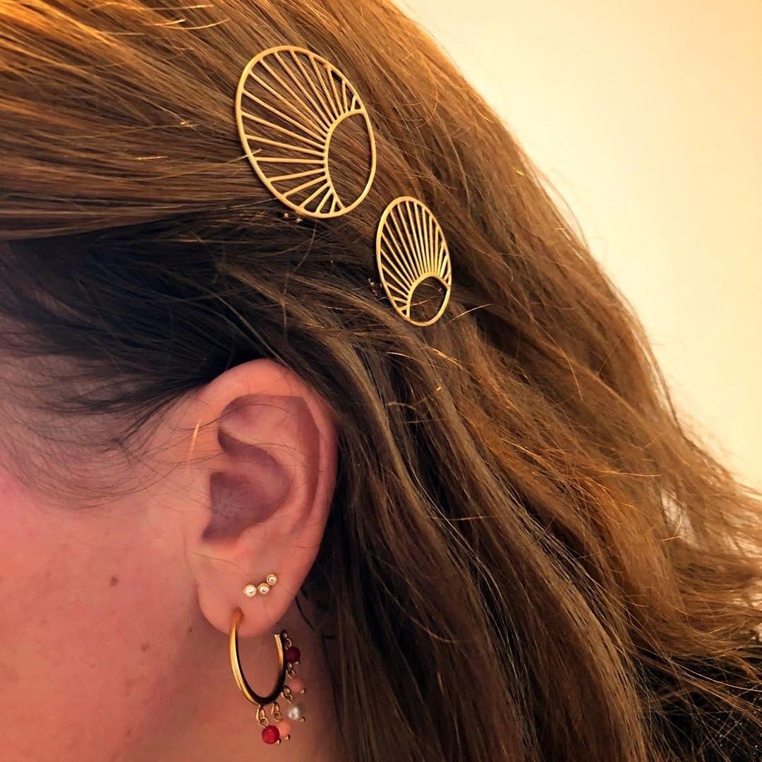 Daylight Hair Clip från Pernille Corydon i Förgyllt-Silver Sterling 925