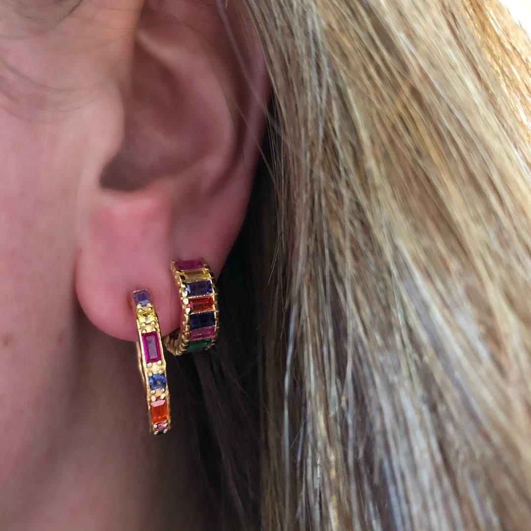 Myrna creol earrings fra Maanesten i Forgylt-Sølv Sterling 925