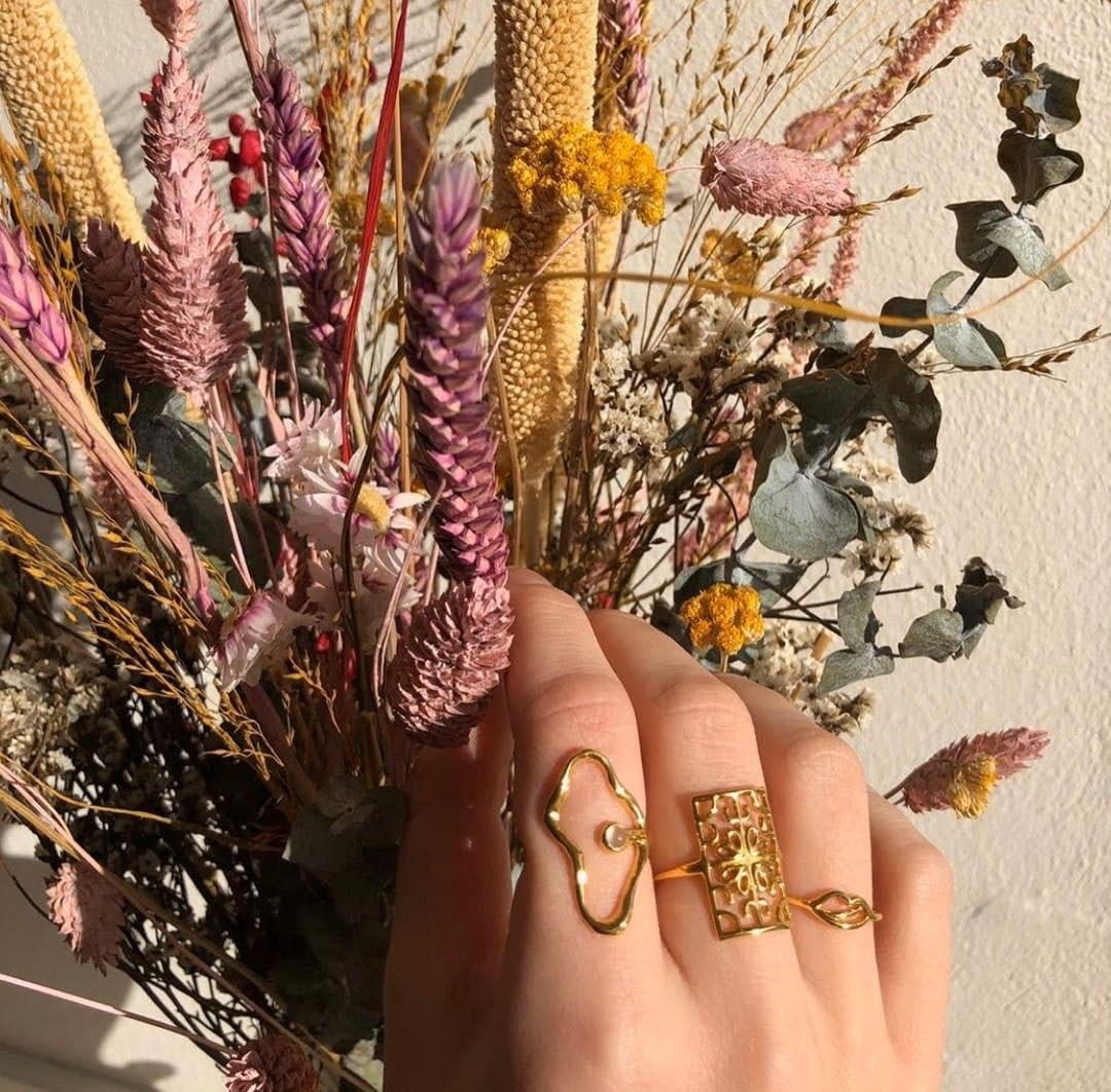Melissa Bentsen Ring von Sistie in Vergoldet-Silber Sterling 925