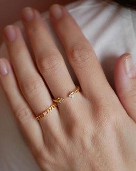 Heart ring från Enamel Copenhagen i Förgyllt-Silver Sterling 925