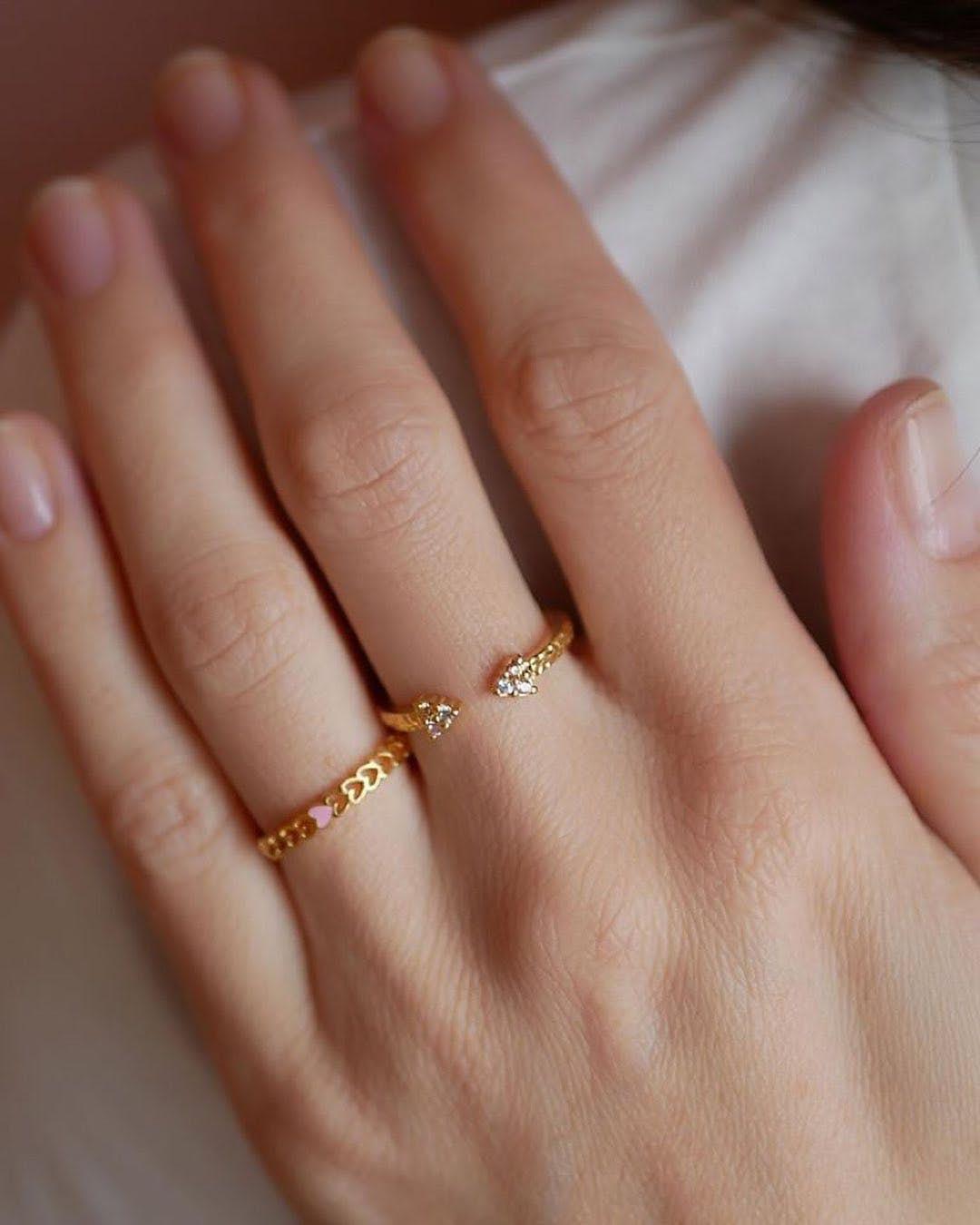 Heart ring fra Enamel Copenhagen i Forgyldt-Sølv Sterling 925