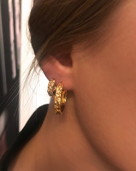 Aio Small earrings from Maanesten in Goldplated silver sterling 925