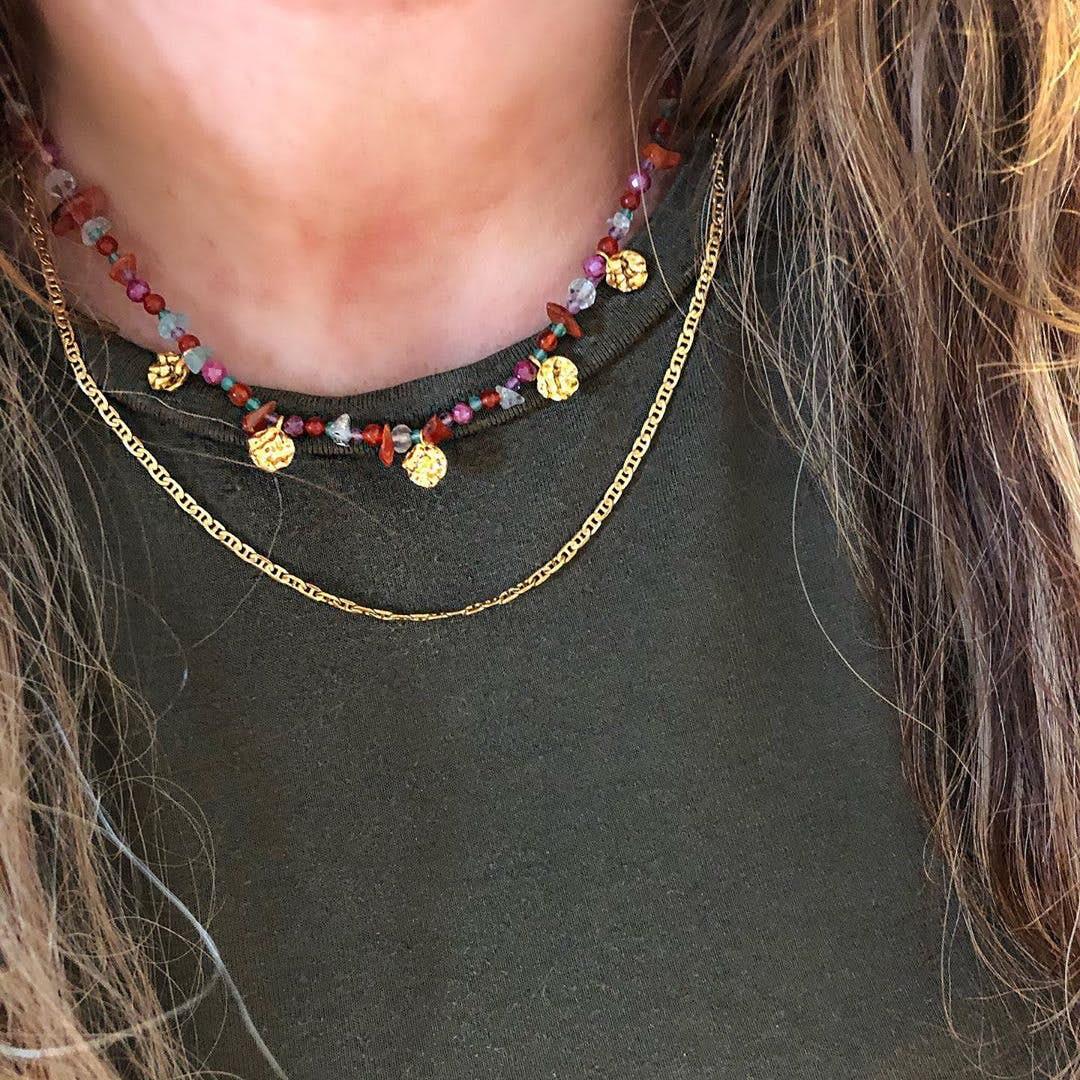 Facet Plain Necklace fra Pernille Corydon i Forgylt-Sølv Sterling 925|Blank