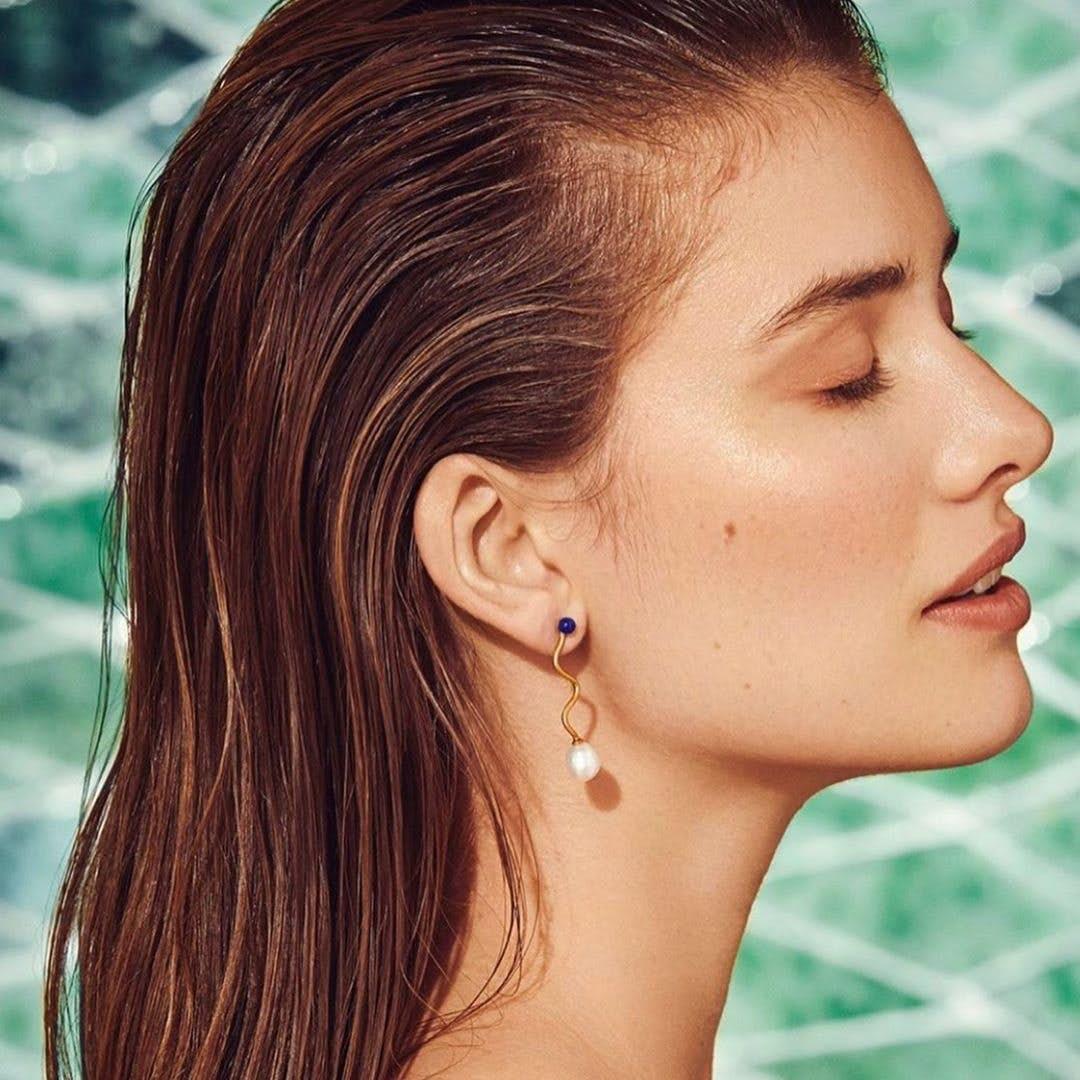 Lapis Lagoon earrings fra Pernille Corydon i Sølv Sterling 925