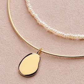 Nova Choker necklace von Pernille Corydon in Vergoldet-Silber Sterling 925|Blank