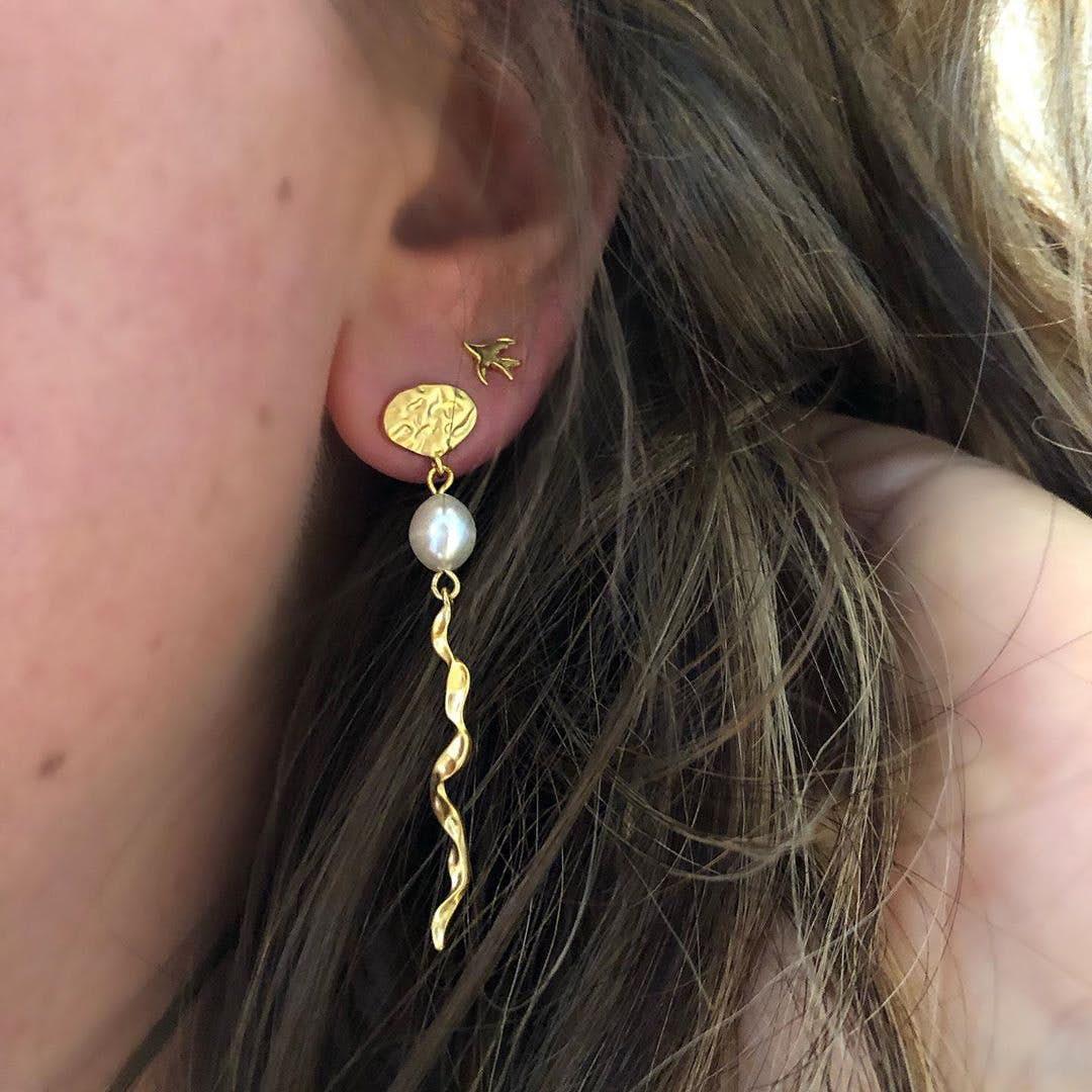Songbird earsticks von Sistie in Vergoldet-Silber Sterling 925