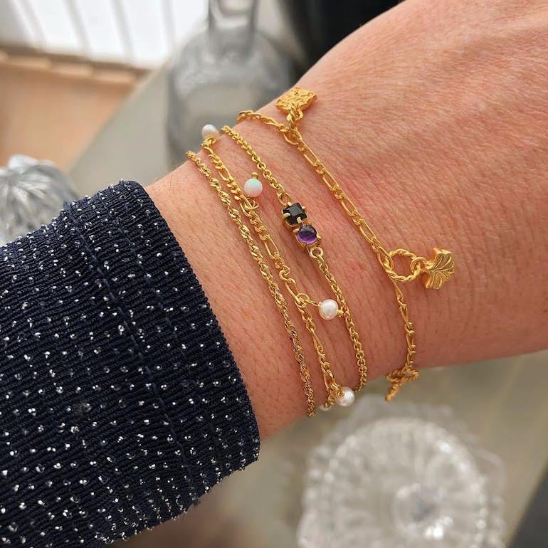 Lula White bracelet fra Maanesten i Sølv Sterling 925|Blank