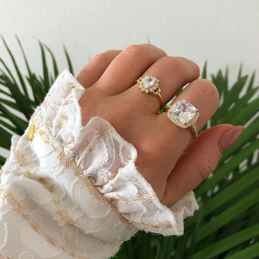 Anne ring from A-Hjort in Goldplated-Silver Sterling 925