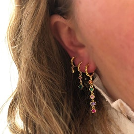 Almine creol earrings