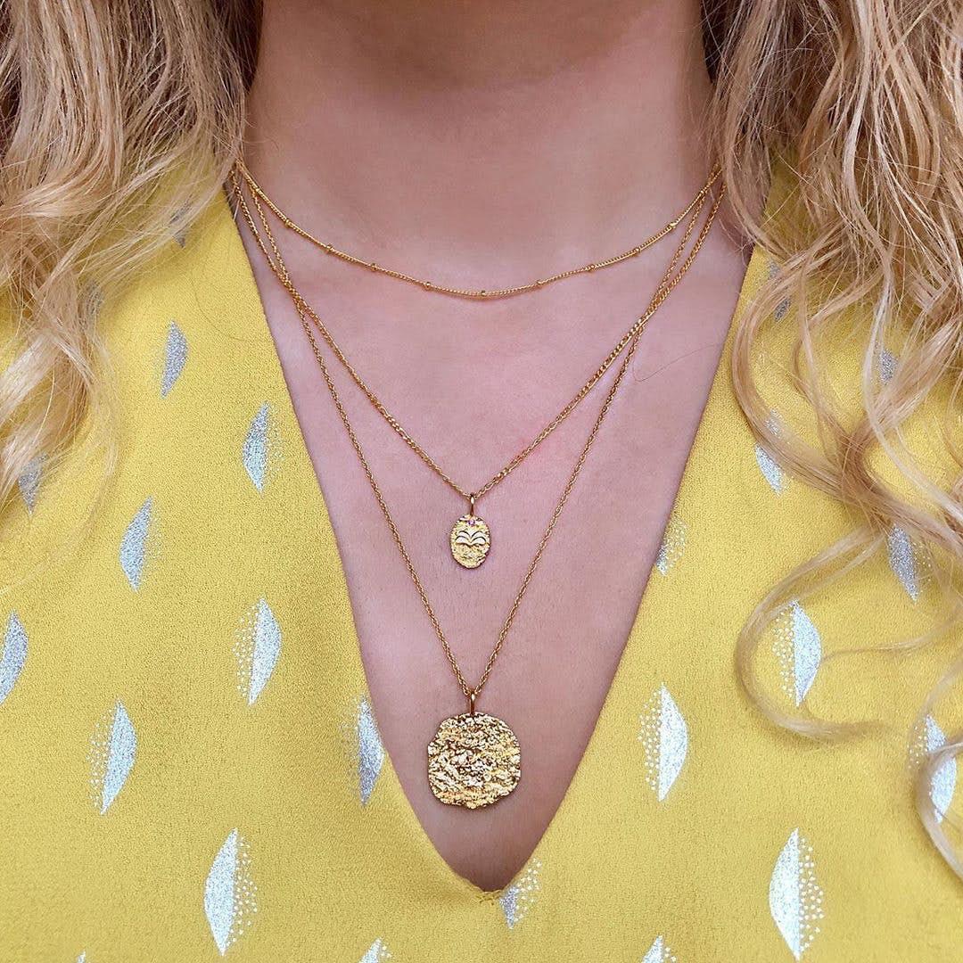 Nala Choker necklace fra Maanesten i Forgyldt-Sølv Sterling 925|Blank
