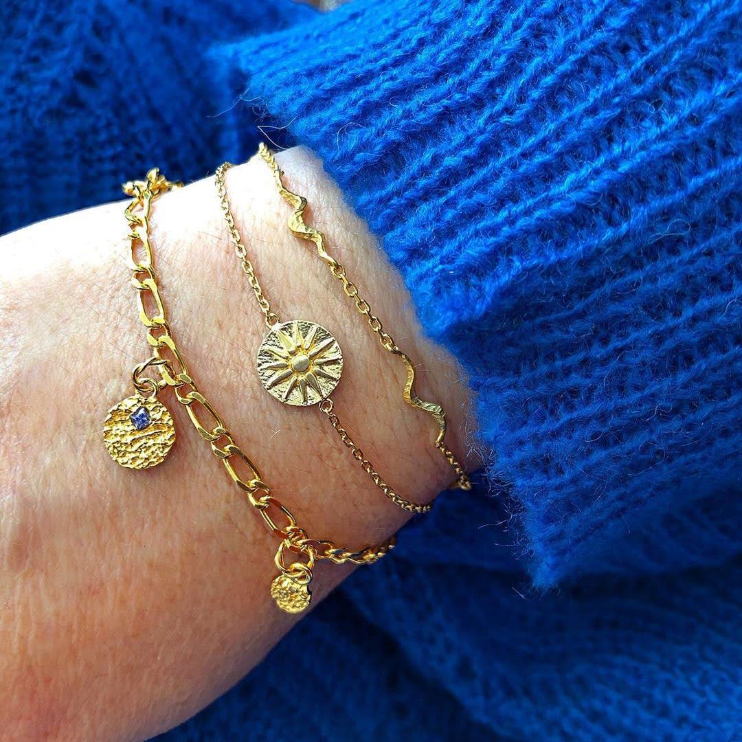 Unda bracelet von Maanesten in Silber Sterling 925| Matt,Blank