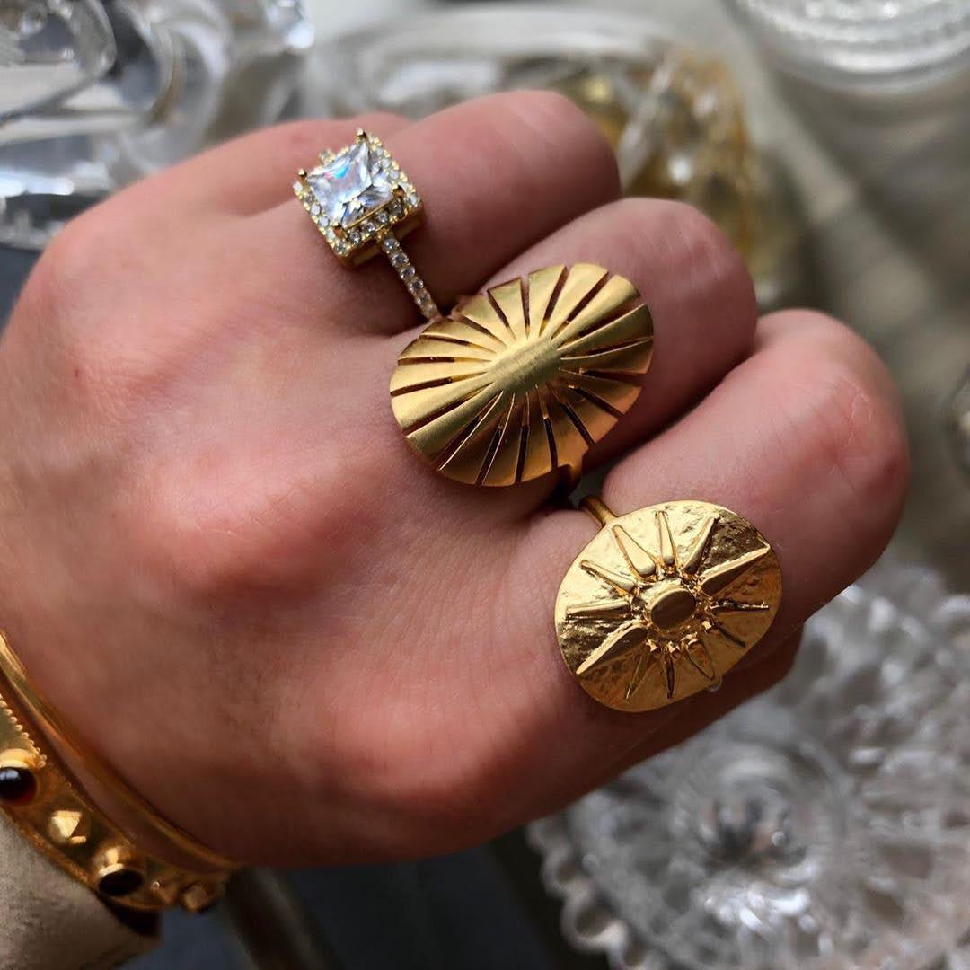 Flare ring von Pernille Corydon in Vergoldet-Silber Sterling 925
