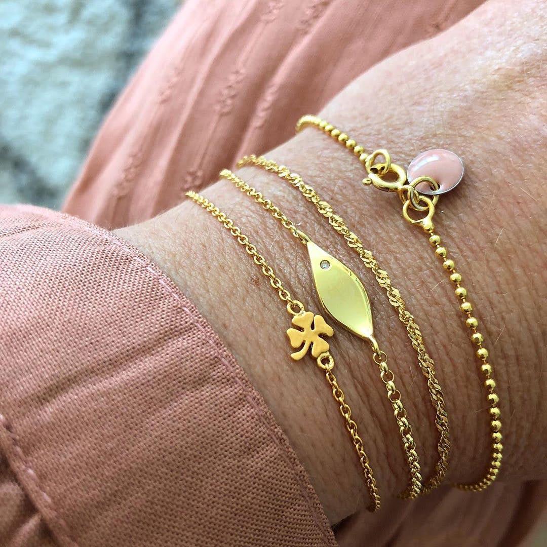 Enamel bracelet Rose fra Enamel Copenhagen i Forgylt-Sølv Sterling 925|Blank
