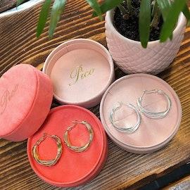 Grace earrings von Pico in Versilbertes Messing