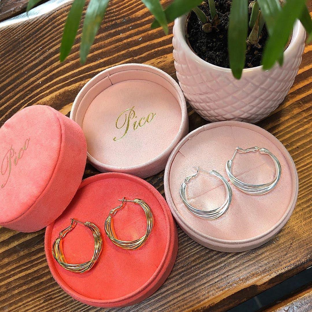 Grace earrings from Pico in Silverplated Brass