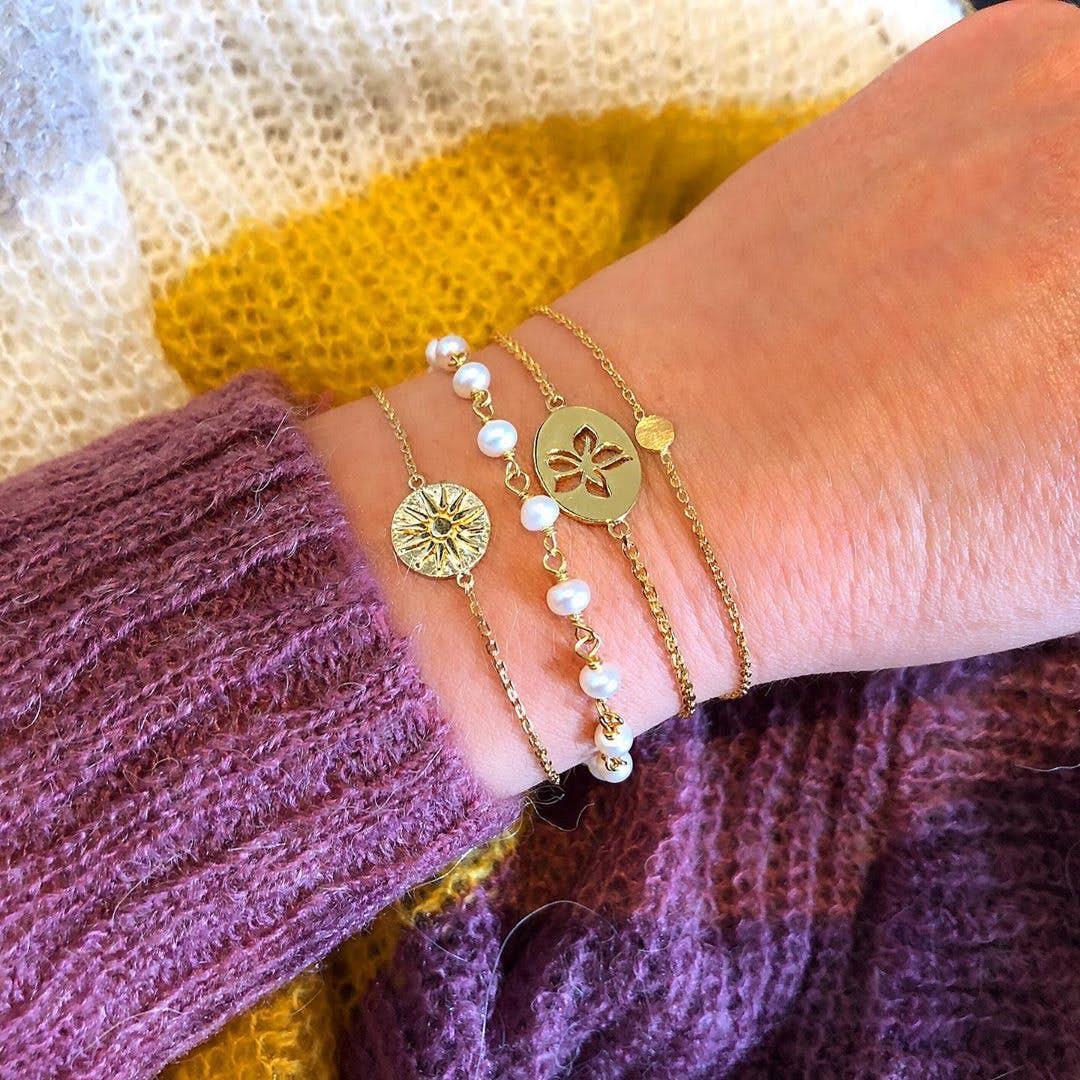 Coin bracelet von Enamel Copenhagen in Vergoldet-Silber Sterling 925| Matt,Blank