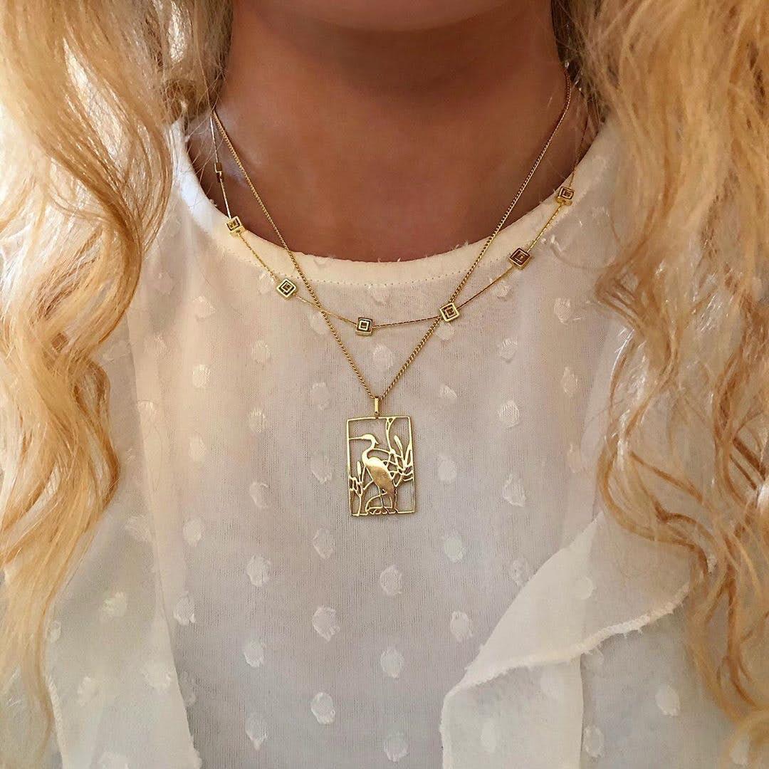 Spring necklace von A-Hjort in Silber Sterling 925|Blank