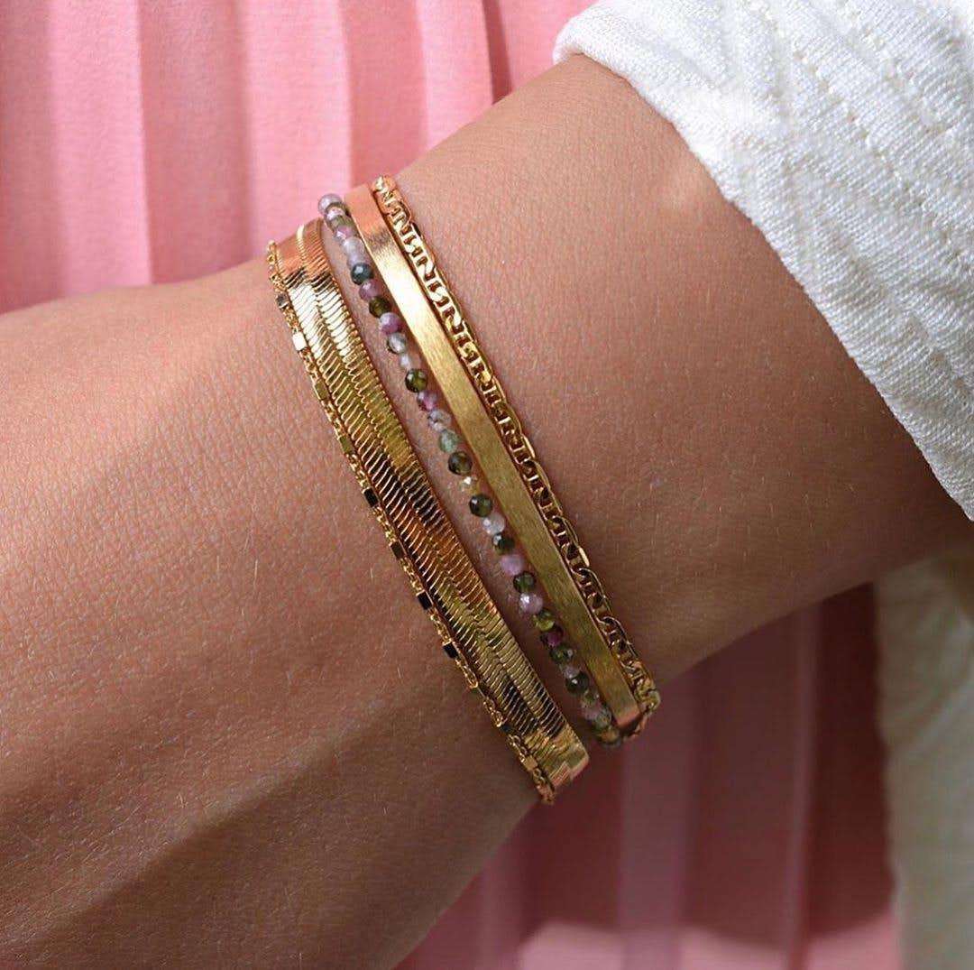 Alliance Bracelet von Pernille Corydon in Vergoldet-Silber Sterling 925|Matt