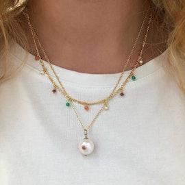Salma color necklace fra Maanesten i Forgyldt-Sølv Sterling 925|Blank