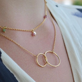 Double plain necklace