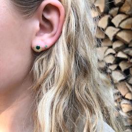 Petite Gem earsticks Green Agate