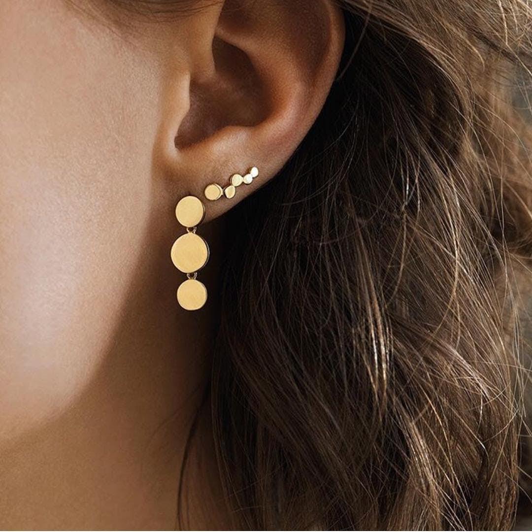 Sheen earsticks von Pernille Corydon in Vergoldet-Silber Sterling 925