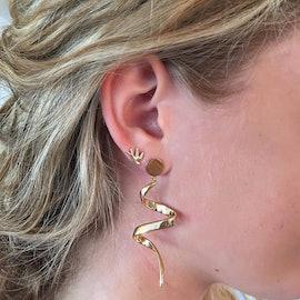 Small Loop earrings fra Pernille Corydon i Forgyldt-Sølv Sterling 925