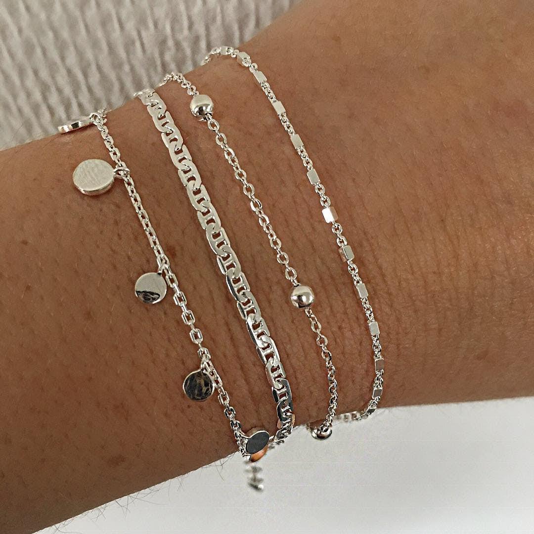 Anne bracelet fra A-Hjort i Forgylt-Sølv Sterling 925|Blank