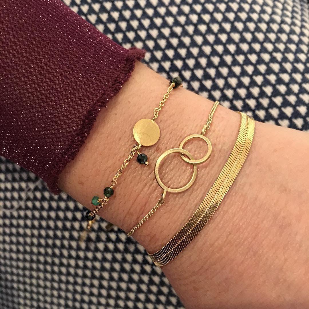 Double plain bracelet fra Pernille Corydon i Sølv Sterling 925| Matt,Blank
