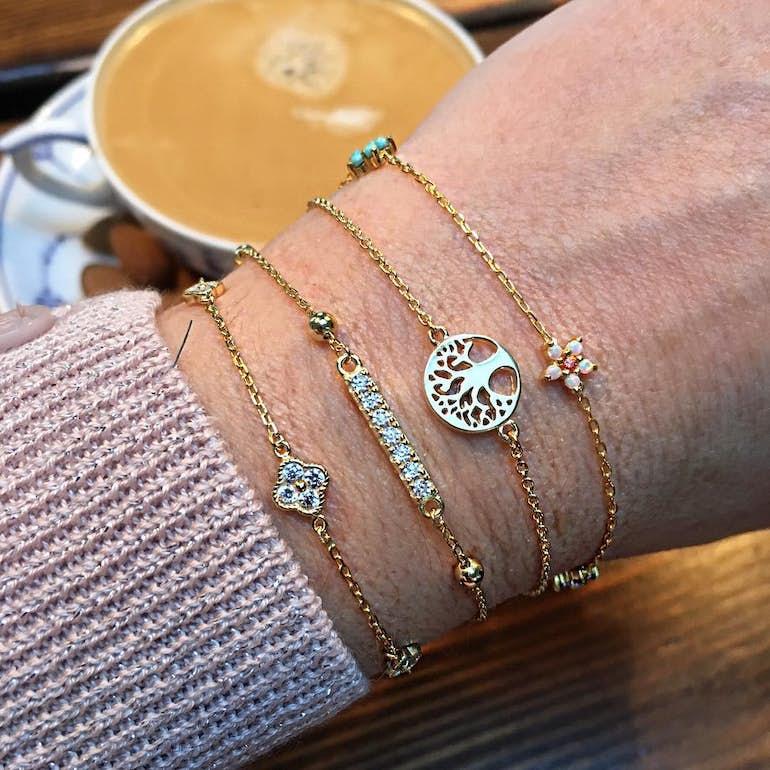 Zircons bracelet von A-Hjort in Silber Sterling 925 Blank