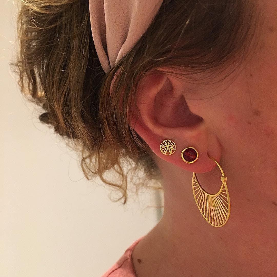 Large Daylight earrings fra Pernille Corydon i Forgylt-Sølv Sterling 925|