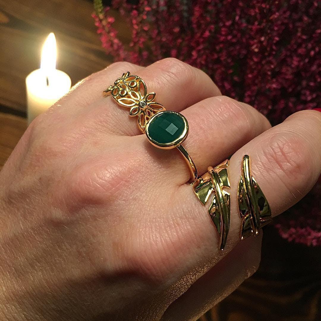 Blossom ring fra Izabel Camille i Forgyldt-Sølv Sterling 925