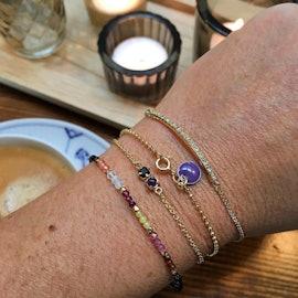 Enamel bracelet Purple