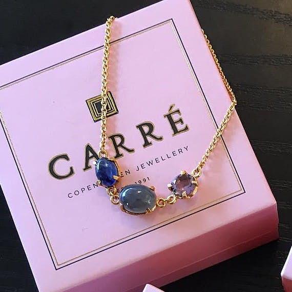 Gem Candy Big gemstones bracelet fra Carré i Forgylt-Sølv Sterling 925|Blank