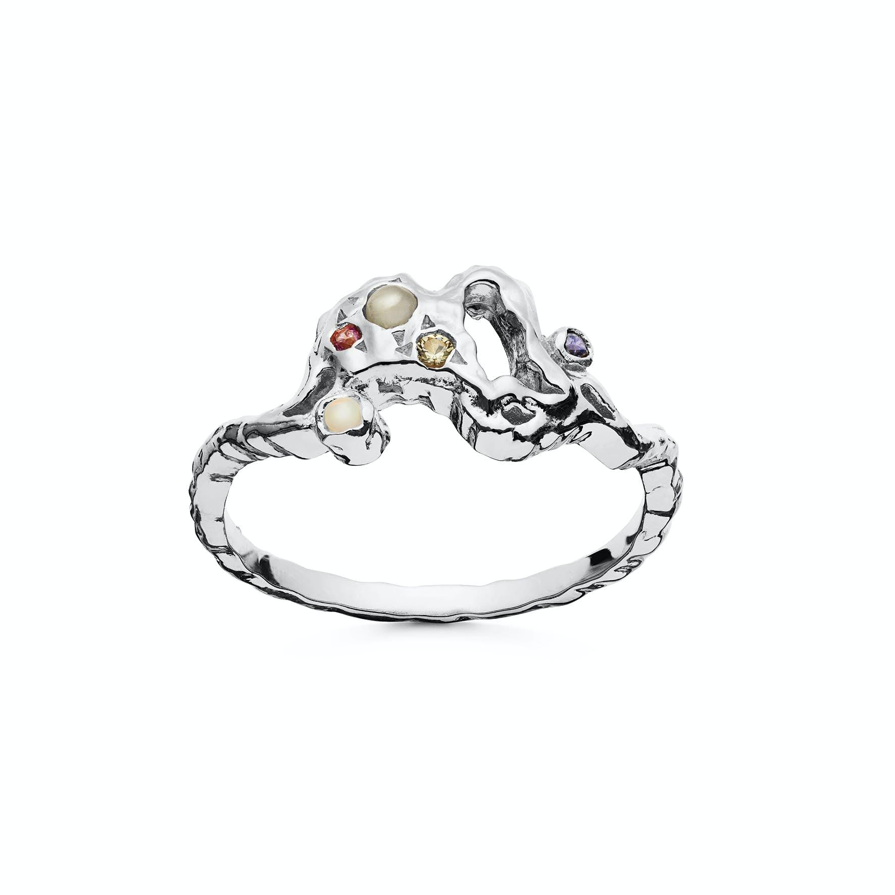 Lulu Ring fra Maanesten i Sølv Sterling 925