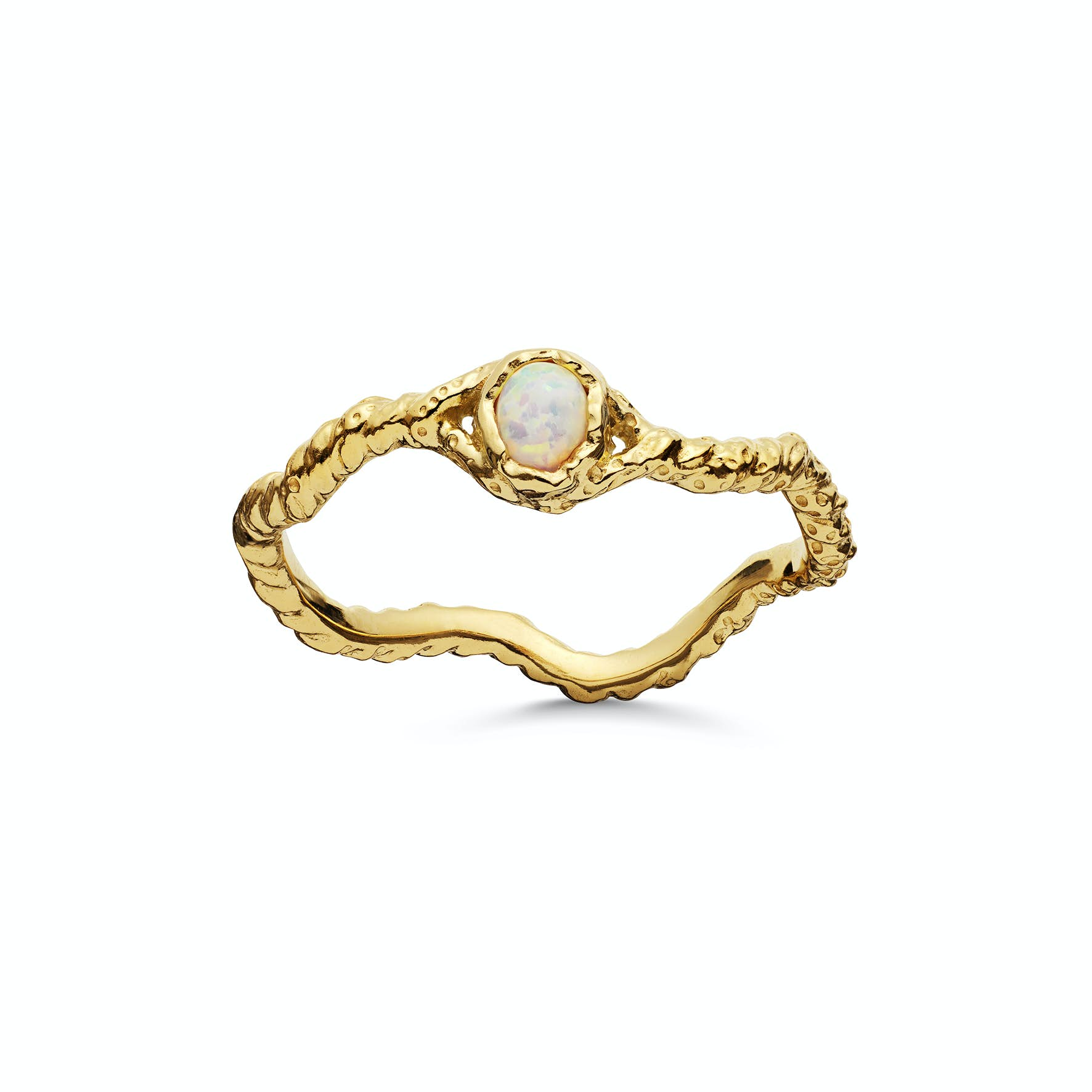 Lisa Ring from Maanesten in Goldplated-Silver Sterling 925