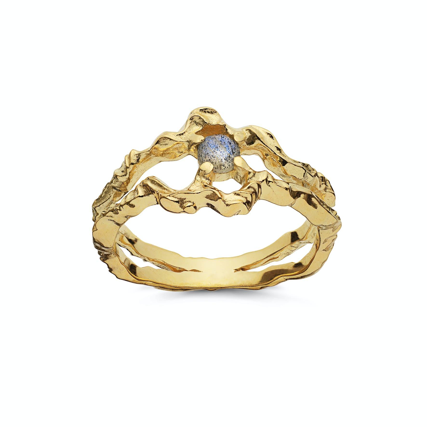 Shelly Ring von Maanesten in Vergoldet-Silber Sterling 925
