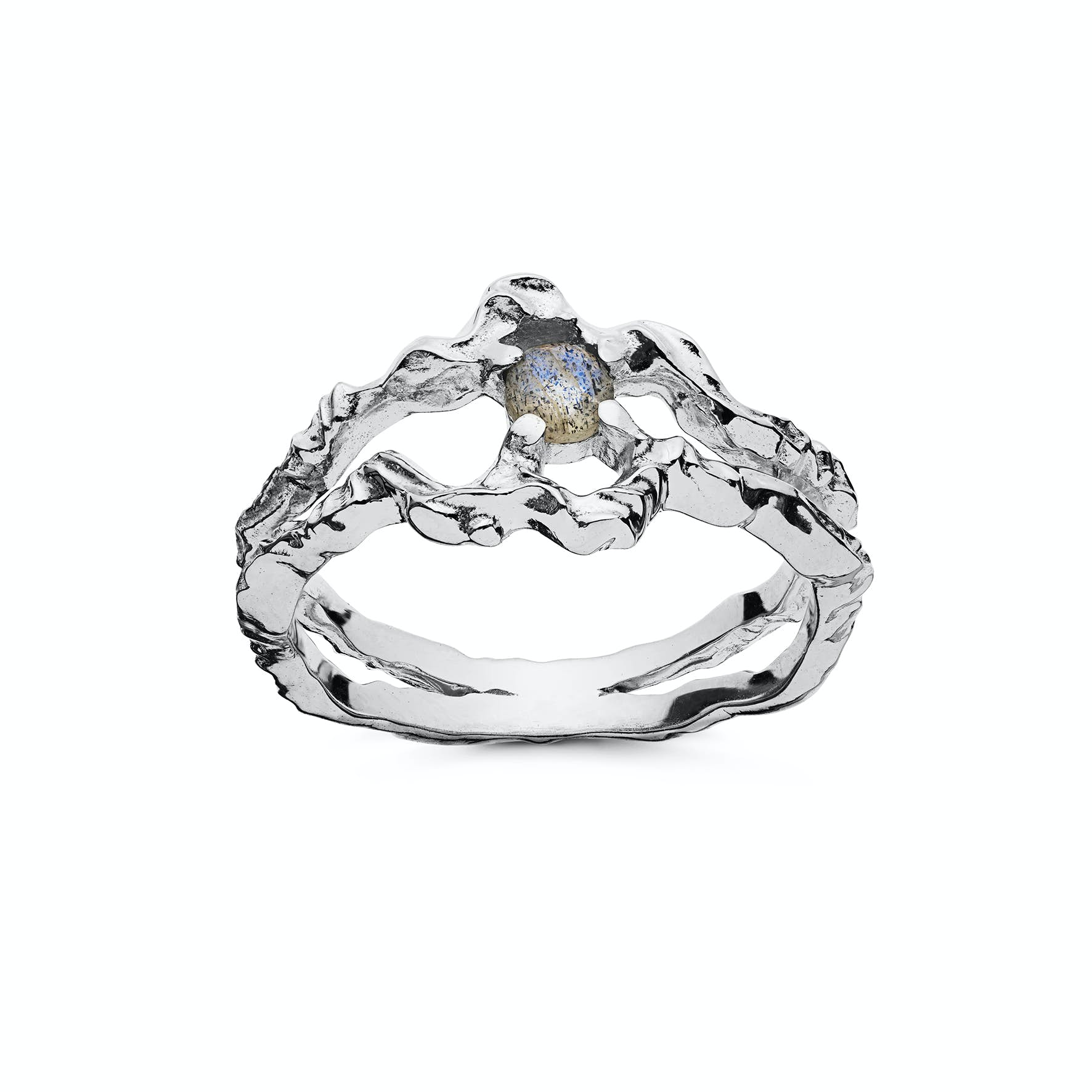Shelly Ring von Maanesten in Silber Sterling 925