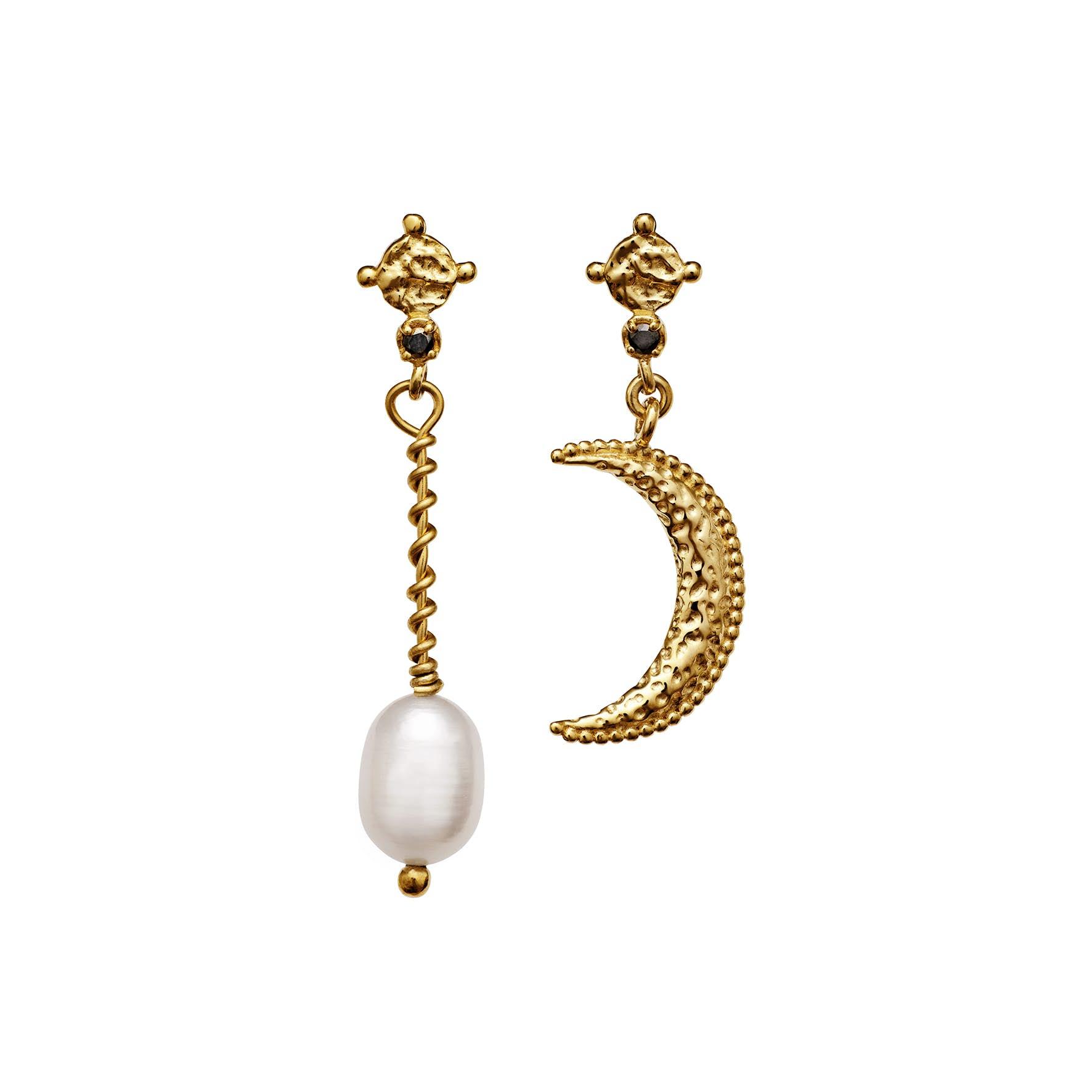 Nyla Earrings von Maanesten in Vergoldet-Silber Sterling 925