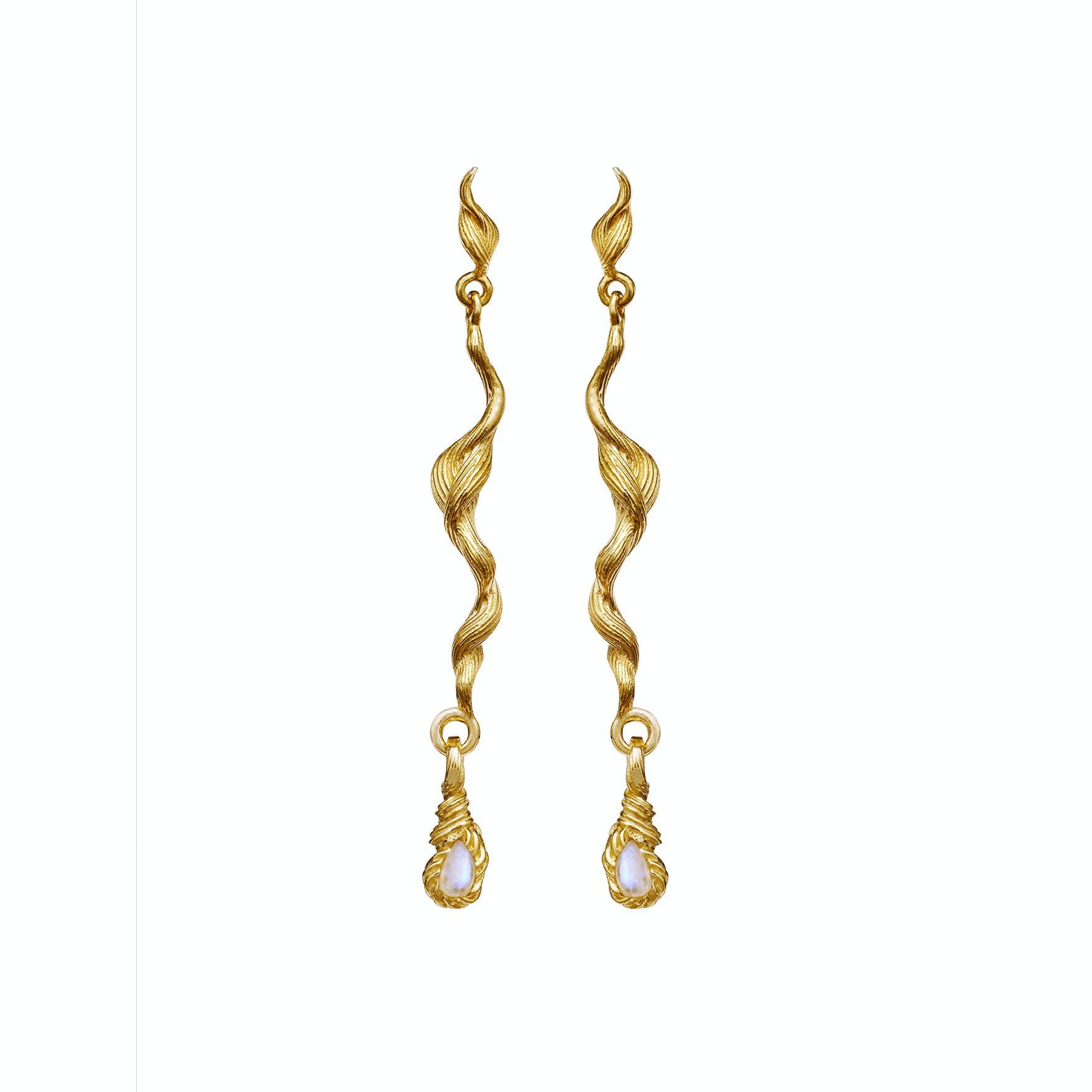 Aqua Earrings von Maanesten in Vergoldet-Silber Sterling 925