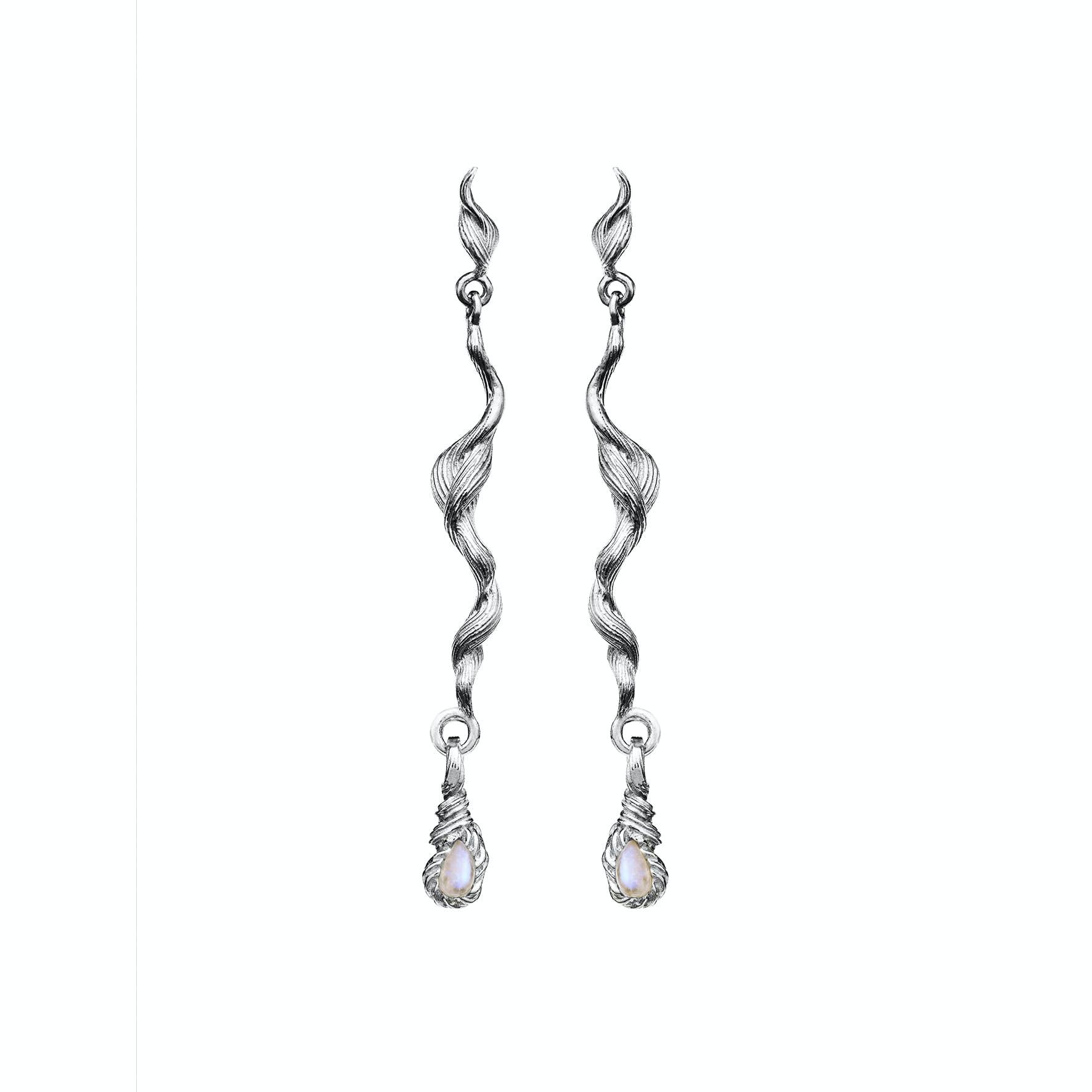 Aqua Earrings fra Maanesten i Sølv Sterling 925