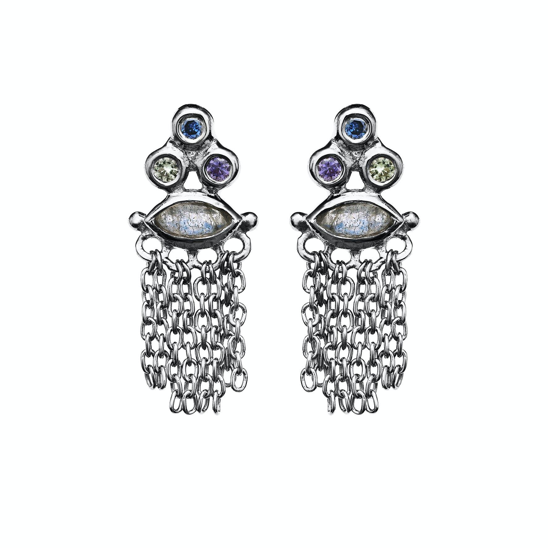 Pina Earsticks von Maanesten in Silber Sterling 925