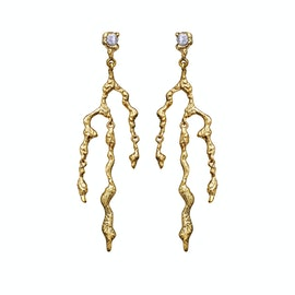 Nori Earrings from Maanesten in Goldplated-Silver Sterling 925
