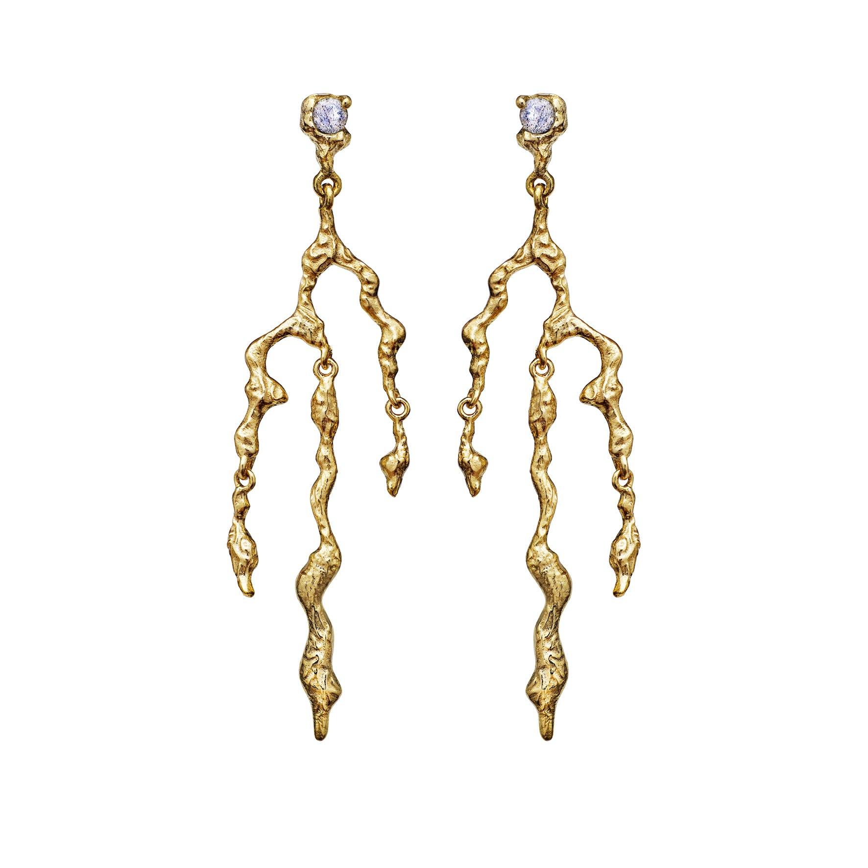Nori Earrings fra Maanesten i Forgyldt-Sølv Sterling 925