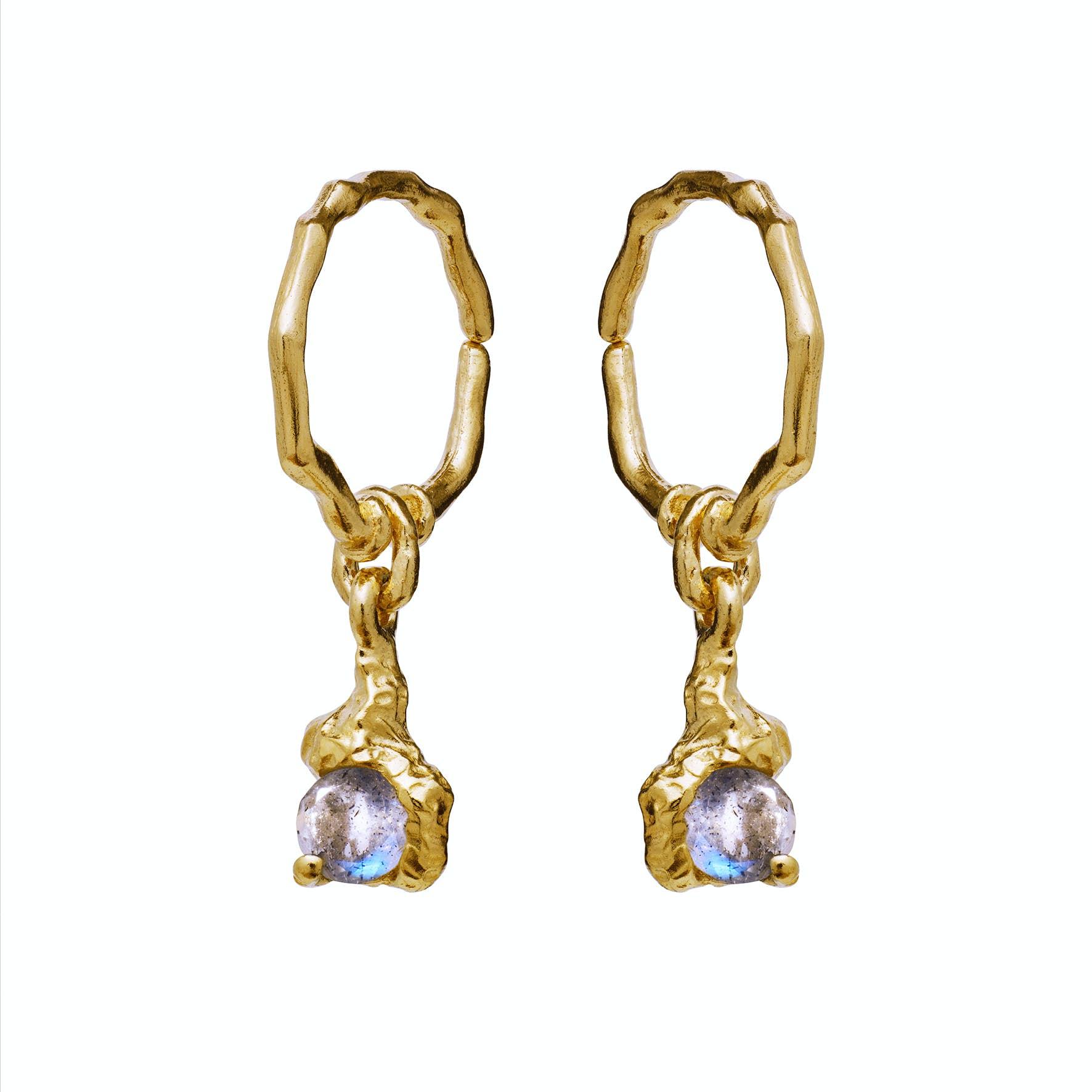 Ava Earrings fra Maanesten i Forgylt-Sølv Sterling 925