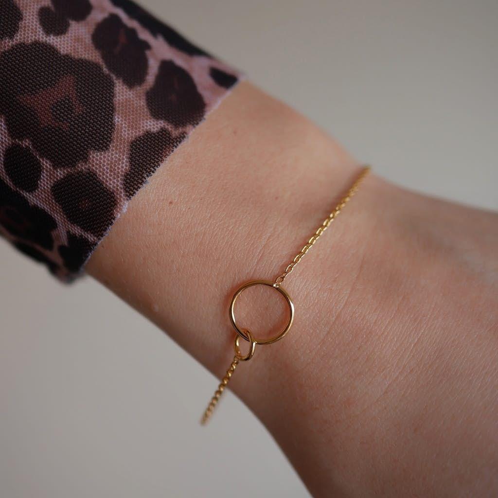 Double Circle bracelet from Enamel Copenhagen in Goldplated-Silver Sterling 925|Blank