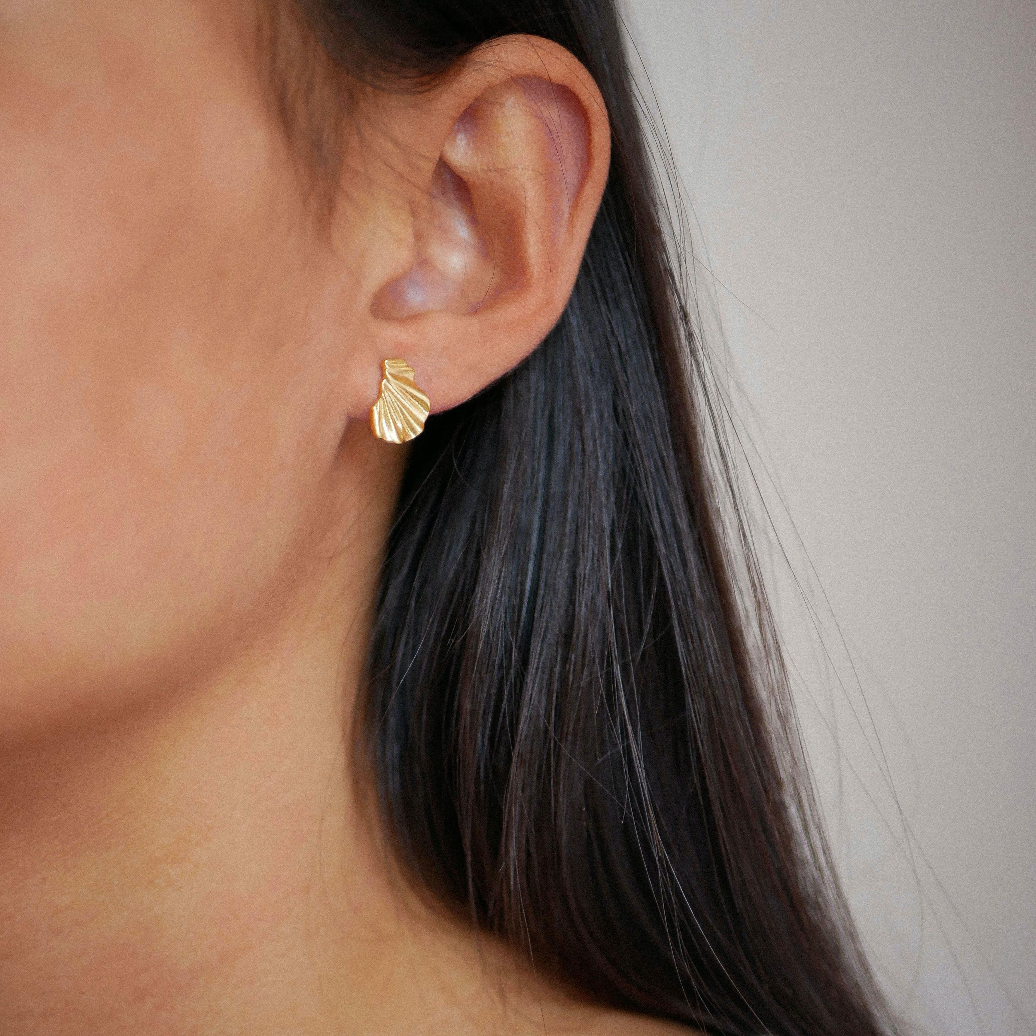 Mini Wave Earrings from Enamel Copenhagen in Goldplated-Silver Sterling 925